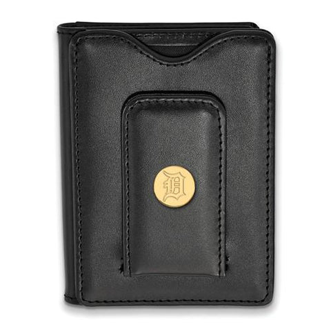 Detroit Tigers Black Leather Wallet
