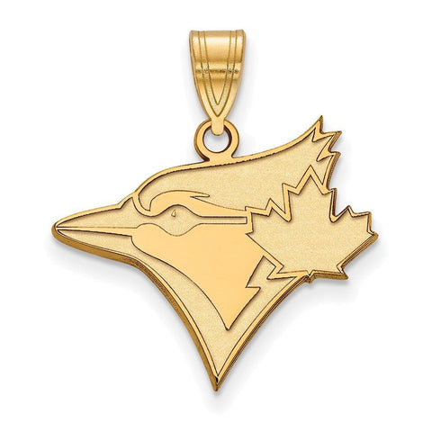 Toronto Blue Jays Large Pendant 10k Yellow Gold