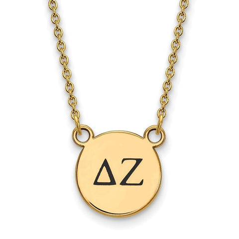 Delta Zeta Extra Small Enameled Pendant with 18 Inch Chain