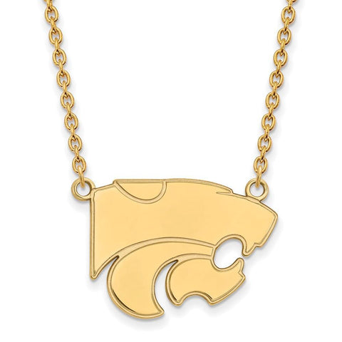 Kansas State Wildcats Large Pendant w/ Necklace