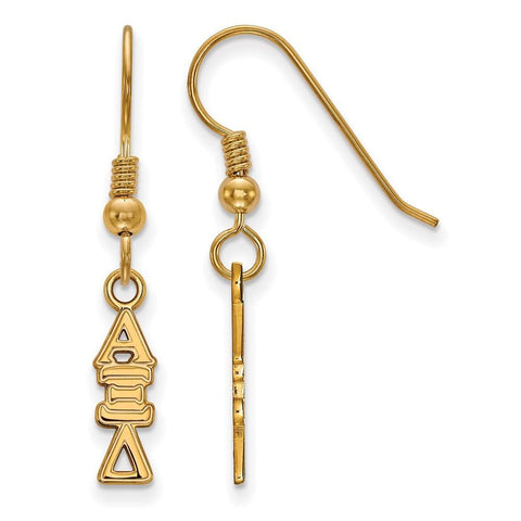 Alpha Xi Delta Small Dangle Earrings