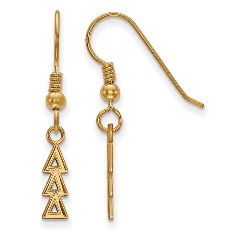 Delta Delta Delta Small Dangle Earrings