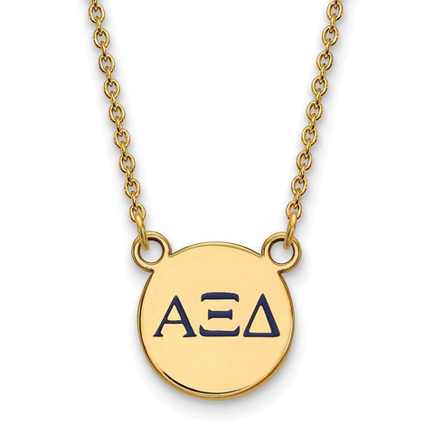 Alpha Xi Delta Extra Small Enameled Pendant with 18 Inch Chain