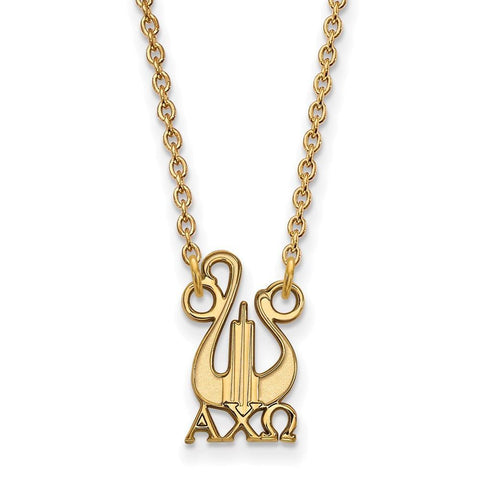 Alpha Chi Omega Extra Small Pendant with 18 Inch Chain