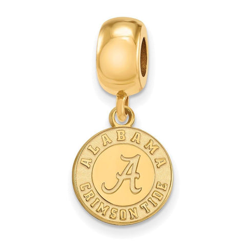Alabama Crimson Tide Bead Charm Small Dangle