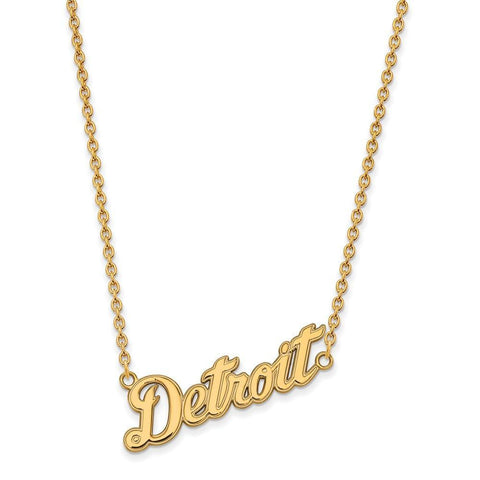 Detroit Tigers Large Pendant w/ Necklace