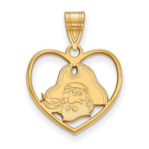 East Carolina Pirates Pendant in Heart