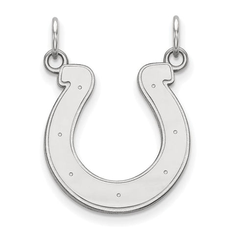 Indianapolis Colts Medium Pendant in 14k White Gold