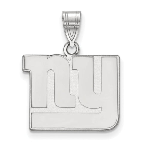 New York Giants Medium Pendant in 10k White Gold