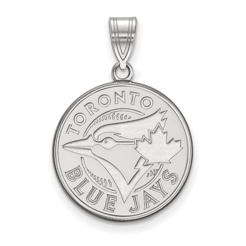 Toronto Blue Jays Large Pendant 10k White Gold