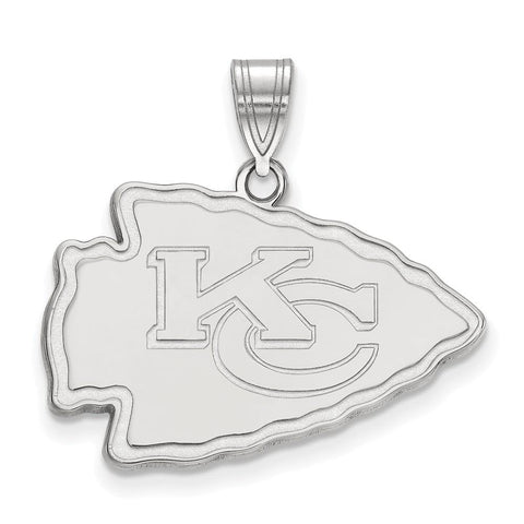 Kansas City Chiefs Large Pendant in Sterling Silver