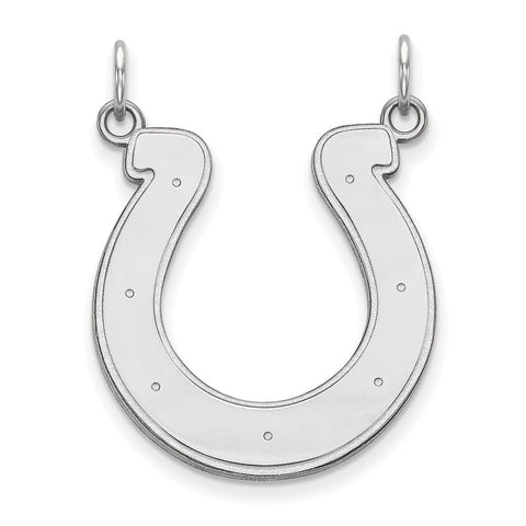 Indianapolis Colts Large Pendant in 14k White Gold