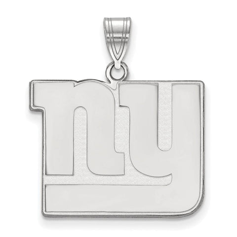 New York Giants Large Pendant in 10k White Gold