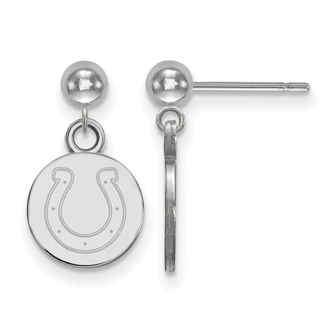 Indianapolis Colts Earrings Dangle Ball in 14k White Gold