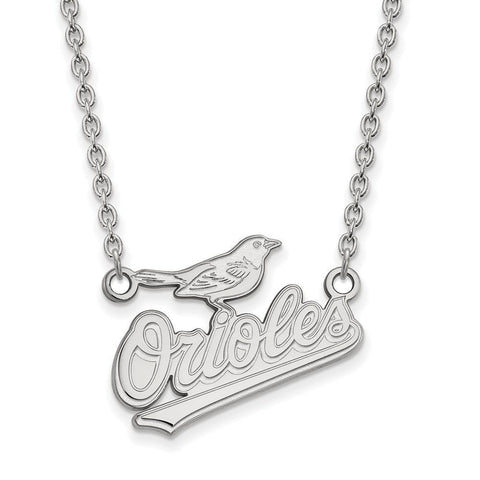 Baltimore Orioles Large Pendant w/ Necklace