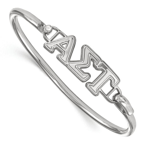 Alpha Sigma Tau Small Hook and Clasp Bangle