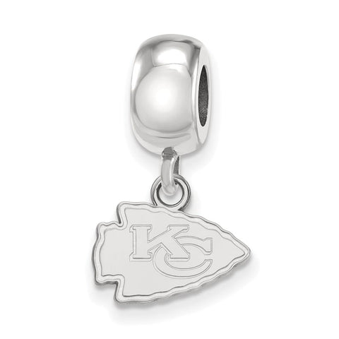 Kansas City Chiefs Bead Charm XS Dangle in Sterling Silver