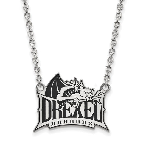 Drexel Dragons Enamel Large Pendant w/Necklace