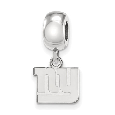 New York Giants Bead Charm XS Dangle in Sterling Silver