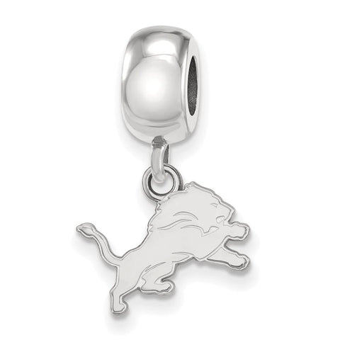 Detroit Lions Bead Charm XS Dangle in Sterling Silver