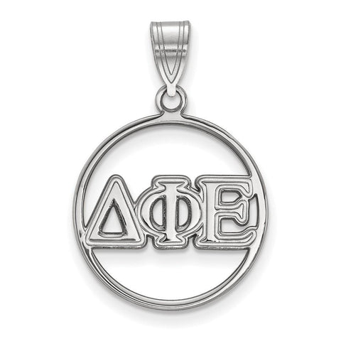 Delta Phi Epsilon Small Circle Pendant