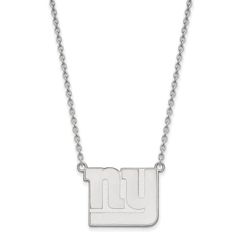 New York Giants Large Pendant Necklace in Sterling Silver