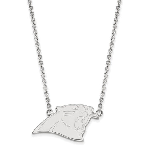 Carolina Panthers Large Pendant Necklace in Sterling Silver