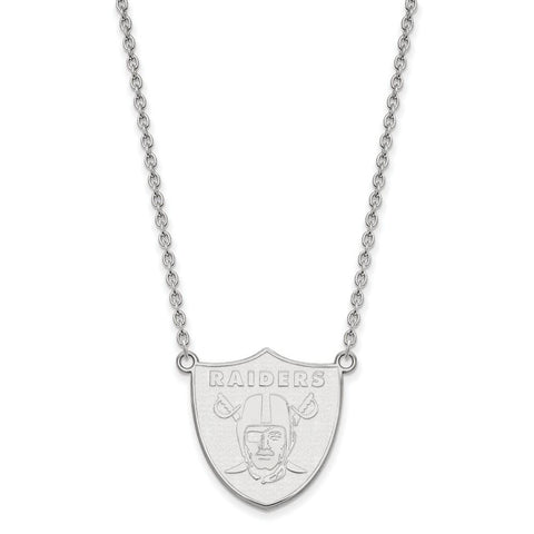 Oakland Raiders Large Pendant Necklace in Sterling Silver