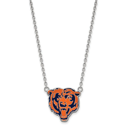Chicago Bears Large Pendant Necklace in Sterling Silver