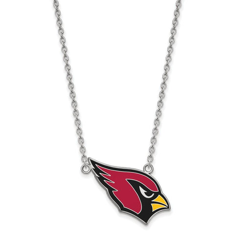 Arizona Cardinals Large Pendant Necklace in Sterling Silver