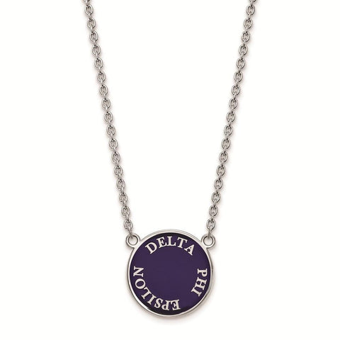 Delta Phi Epsilon Small Enameled Pendant with 18 Inch Chain
