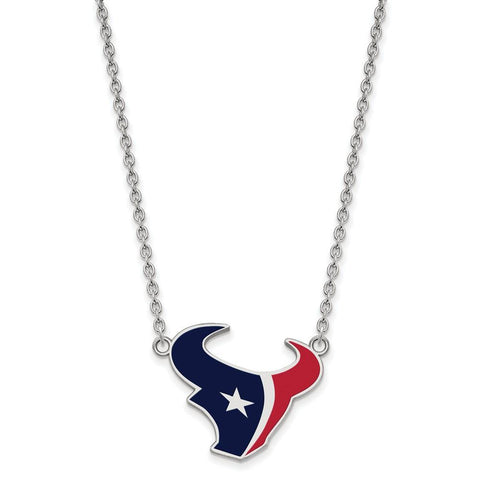Houston Texans Large Pendant Necklace in Sterling Silver