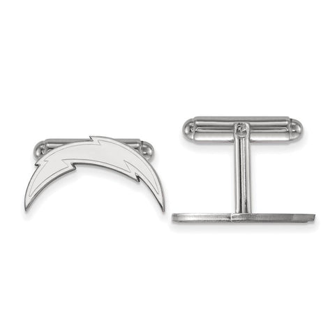 Los Angeles Chargers Cufflinks in Sterling Silver