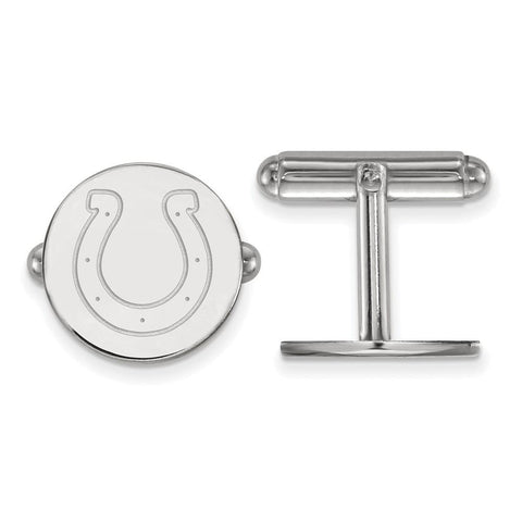 Indianapolis Colts Cufflinks in Sterling Silver