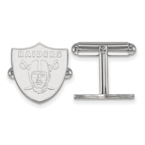 Oakland Raiders Cufflinks in Sterling Silver