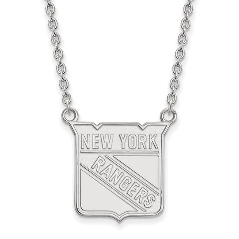 New York Rangers Large Pendant w/ Necklace