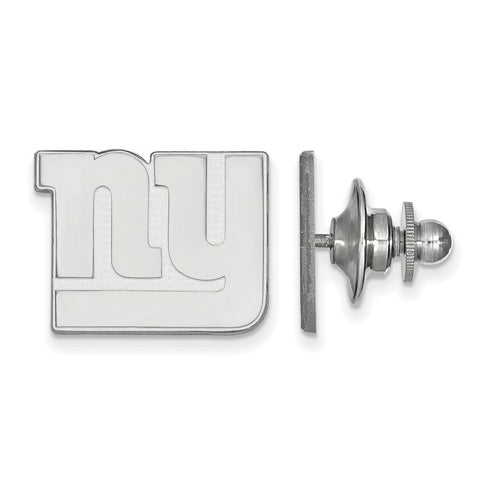 New York Giants Lapel Pin in 14k White Gold