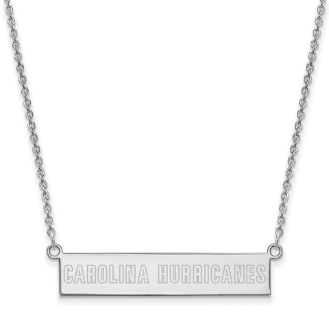 Carolina Hurricanes Small Bar Necklace Sterling Silver