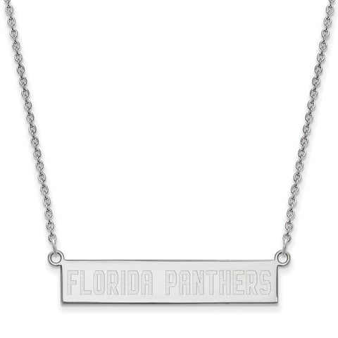 Florida Panthers Small Bar Necklace Sterling Silver