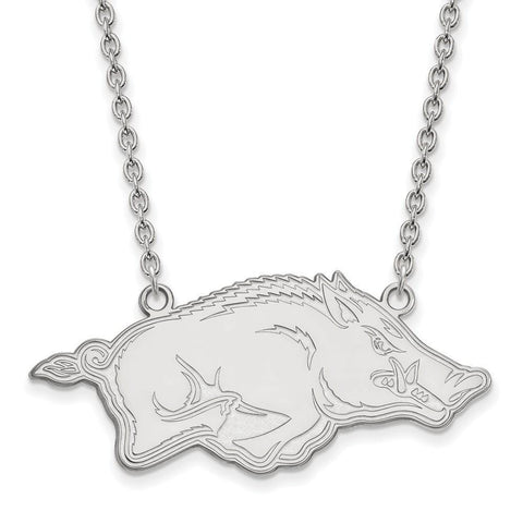 Arkansas Razorbacks Large Pendant w/ Necklace