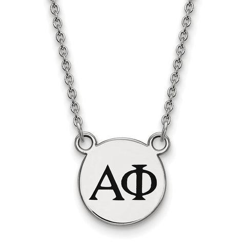 Alpha Phi Extra Small Enameled Pendant with 18 Inch Chain