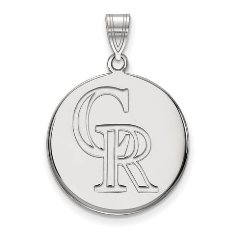 Colorado Rockies Large Disc Pendant