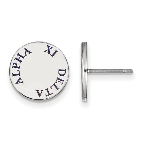 Alpha Xi Delta Enameled Post Earrings