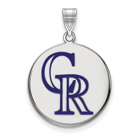 Colorado Rockies Large Enamel Disc Pendant