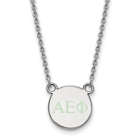 Alpha Epsilon Phi Extra Small Enameled Pendant with 18 Inch Chain