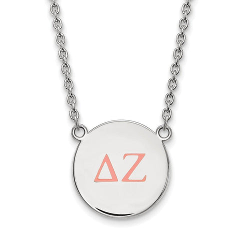 Delta Zeta Small Enameled Pendant with 18 Inch Chain