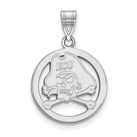 East Carolina Pirates Small Pendant in Circle