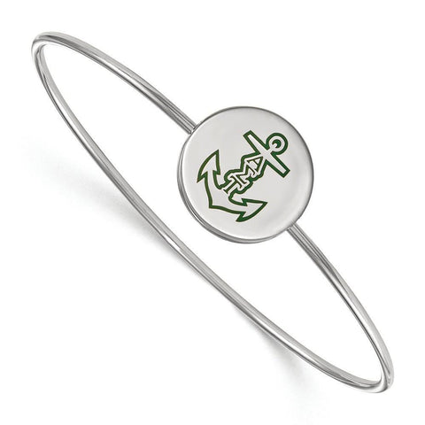 Alpha Sigma Tau Enameled Slip on Bangle