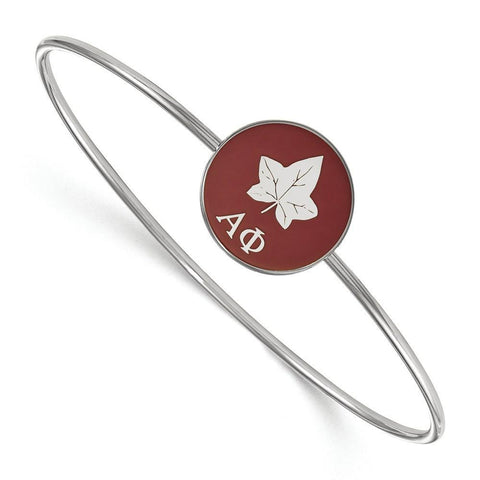 Alpha Phi Enameled Slip on Bangle