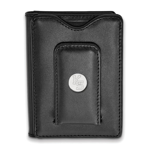 Kansas State Wildcats Black Leather Wallet